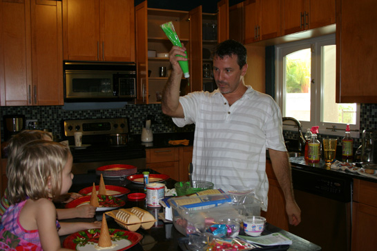 Christmas crafts with Papa